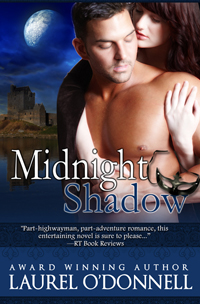 A medieval romance book. Midnight Shadow by Laurel O'Donnell